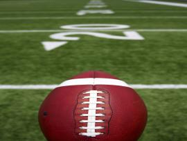 Football Field With Football Hd 1080P 12 HDs Presentation Backgrounds