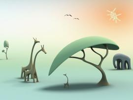 Free Animals In Jungle For PowerPoint  Animal PPT   Design Backgrounds