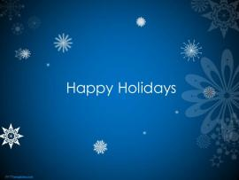 Free Animated Happy Holidays PPT Template Photo Backgrounds