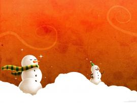 Free Christmass and PowerPoint Pictures Snowman   Presentation Backgrounds