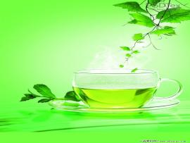 Free Green Tea Poster Backgrounds