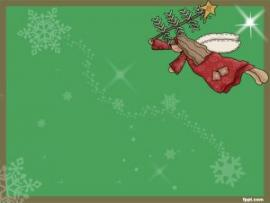 Free PowerPoint Templates Christmas Angels Slides Backgrounds