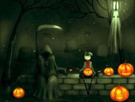 Free Scary Halloween & Collection 2014 Clip Art Backgrounds