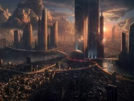 Futuristic Citys Graphic Backgrounds