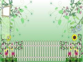 Garden Template Backgrounds