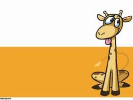 Giraffe Cartoon Template  Free Templates   Backgrounds