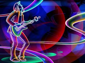 Girls Music Neon Art Clipart Backgrounds