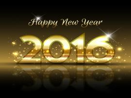 Gold 2016 New Year Vector  Free Template Backgrounds