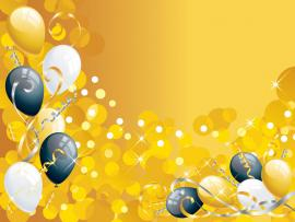 Gold Balloon Picture Backgrounds