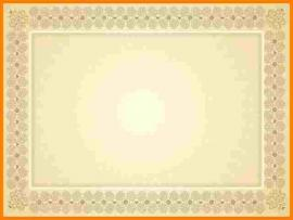 Gold Certificate Vintage Backgrounds
