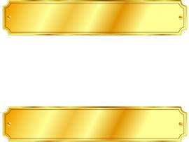 Gold Metal Sign PPT Template Backgrounds