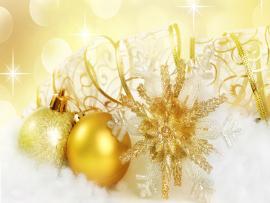 Golden Christmas Ornaments Clipart Backgrounds