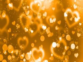 Golden Heart Art Backgrounds