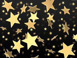 Golden Stars On Black  PSDGraphics Design Backgrounds