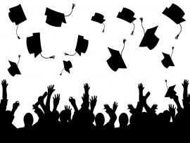 Graduation Vector Silhouette Free Art Presentation Backgrounds