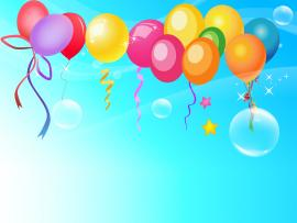Graphic Of Balloons Slides Backgrounds