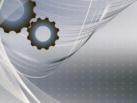 Gray Gear Technology PowerPoint  PPT Frame Backgrounds