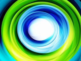 Green and Blue Swirl Presentation Backgrounds
