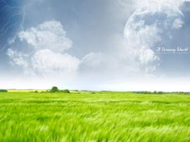 Green Farm Dreamy World Hd Backgrounds