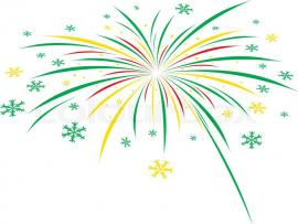 Green Fireworks White Christmas Firework Design On White   Picture Backgrounds