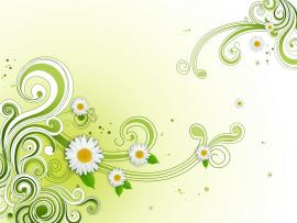 Green Floral Flower PSD  Photoshop  All Free Web   Graphic Backgrounds