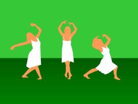 Green Girl Dance Sport Clip Art Backgrounds