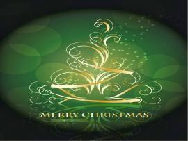 Green Merry Christmas Design Backgrounds