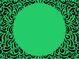Green Spiral Frame Backgrounds