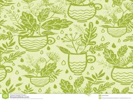 Green Tea Cups Design Backgrounds
