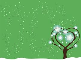 Green Tree Snow  Christmas Love Nature  PPT   Art Backgrounds