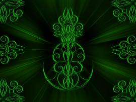 Green Tribal Art Backgrounds
