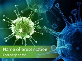 Green Virus Anism Russian Influenza Molecular PowerPoint Template Presentation Backgrounds