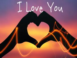 Hand Heart Love You Design Backgrounds