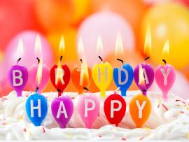 Happy Birthday Candles Backgrounds