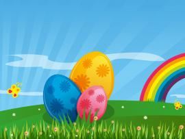 Happy Eggs Easter Backgrounds