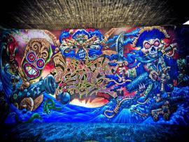 Hd Graffiti Blue Clip Art Backgrounds