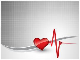 Heart Beat PPT Slide Backgrounds