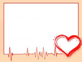 Heart Cardiogram Frame Backgrounds