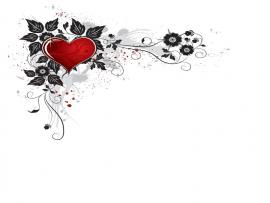 Heart Flower PPT Design Backgrounds