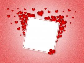 Heart Postcard Love PPT Clipart Backgrounds