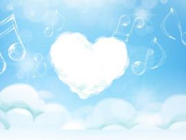Heart Sky Art Backgrounds