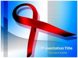 HIV Aids Symbol PowerPoint Templates PPT Slides image Backgrounds
