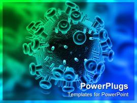 Hiv Virus PowerPoint Template Of Aids Antivirus Artery Clipart Backgrounds