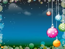 Holiday Ornaments Frame Wallpaper Backgrounds