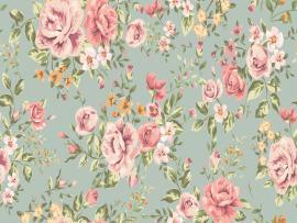 Home Design Vintage Flower Pattern Slides Backgrounds