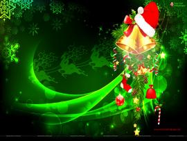 Home Green Christmas  Backgrounds