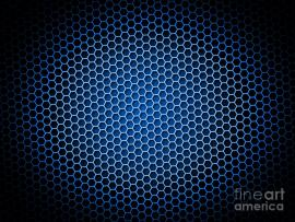 Honeycomb Blue Digital Art By Henrik Lehnerer Backgrounds