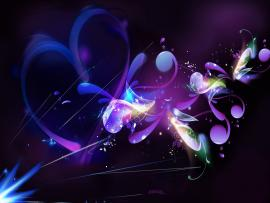 I Love Purple Abstract Template Backgrounds