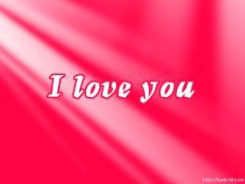 I Love You Pink Presentation Backgrounds
