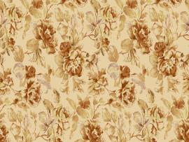 In Coffee Tones Vintage Floral Pattern Presentation Backgrounds